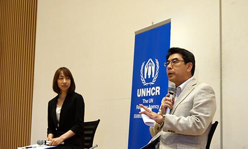 """久保眞治UNHCRネパール・ダマック事務所長がブータン難民について描かれた作品「シャングリラの難民」の上映後にトークを行いました。(2014年・第9回)Shiji Kubo, Representative to UNHCR Damak Office explained about the Bhutanese refugees in Nepal after the screening of """"Refugees of the Shangli-la"""" (9th, 2014)"""