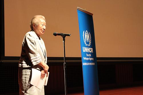 第8代国連難民高等弁務官緒方貞子さんには毎年映画祭の初日にご挨拶を頂戴しております。Opening remarks by Mrs.Sadako Ogata, the 8th UN High Commissioner for Refugees