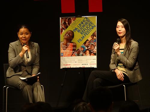 『ラストチャンス~LGBTたちの行方~』上映後に世田谷区議会議員の上川あやさんをゲストに迎えトークイベントを行いました。(2014年・第9回) Ms. Aya Kamikawa, Setagaya ward assembly member as a guest speaker (9th, 2014)